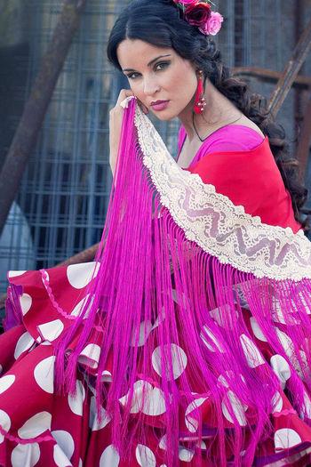 Traje de flamenca modelo Jacaranda - El Ajolí