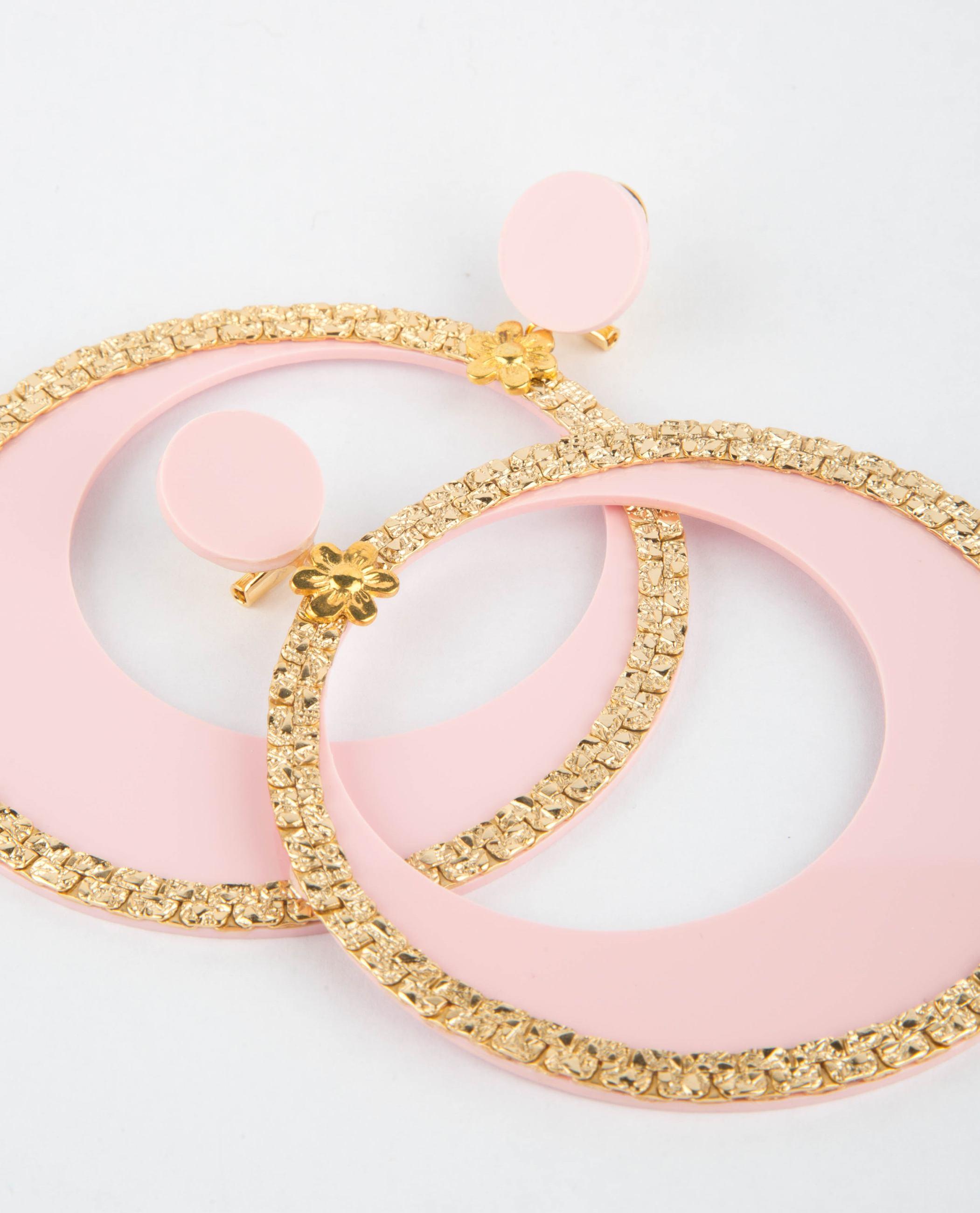 pendientes de flamenca rosa bebe